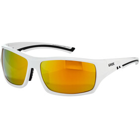 UVEX Sportstyle 222 Pola Brille white/mirror yellow